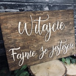 """Tablica powitalna weselna """"Witajcie"""" MAŁA"""
