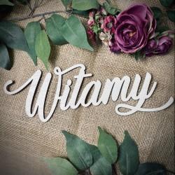 """Drewniany napis """"Witamy"""" dekor natruralny"""