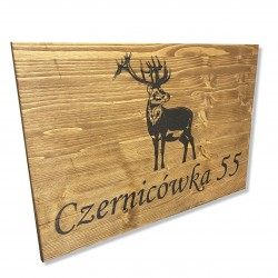 Drewniany szyld grawerowany TWOJE LOGO/NAPIS 60x40