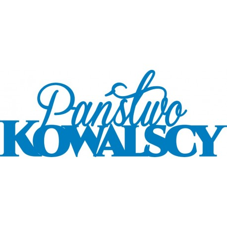 Napis na ściankę Państwo Kowalscy różne kolory 90 cm
