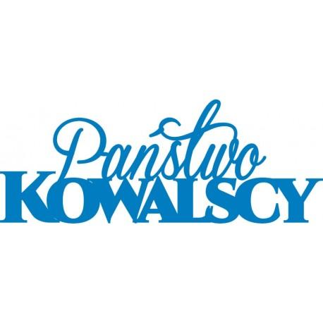 Napis na ściankę Państwo Kowalscy różne kolory 120 cm