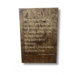 Weselna tablica powitalna z cytatem