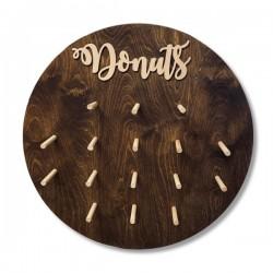 Drewniana tablica na donuty- Donut Wall olejowana koło 60 cm
