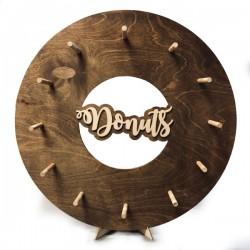 Drewniana tablica na donuty- Donut Wall w kształcie pączka olejowana