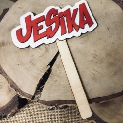 """Drewniana tabliczka do fotobudki """"Jesika"""""""