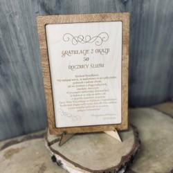 Tabliczka- gratulacje z okazji rocznicy ślubu