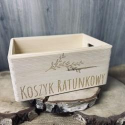 Drewniany koszyk ratunkowy naturalny