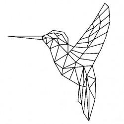 Ozdoba na ścianę- koliber geometryczny mały