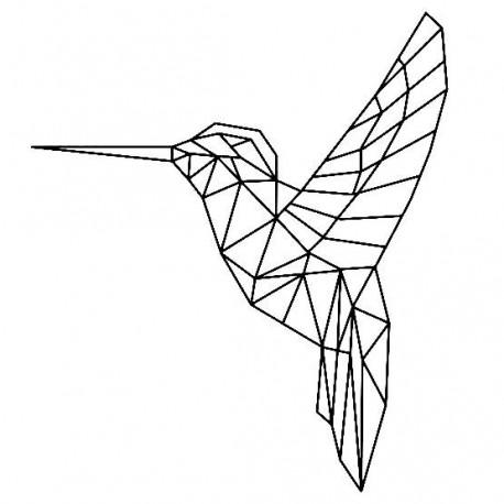 Ozdoba na ścianę- koliber geometryczny duży