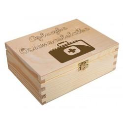 Drewniane pudełko z grawerem na prezent urodziny