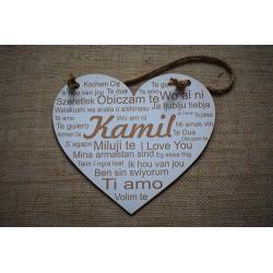 Tabliczka serce z imieniem personalizowana