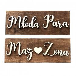 Drewniane ślubne tablice rejestracyjne ze sklejki AMERYKAŃSKIE