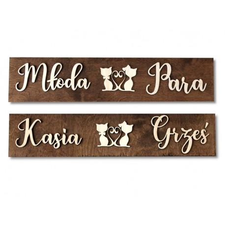 Drewniane ślubne tablice rejestracyjne ze sklejki MRS MR